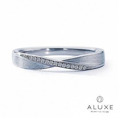 A-LUXE 亞立詩鑽石 18K金情侶結婚戒指 -女戒