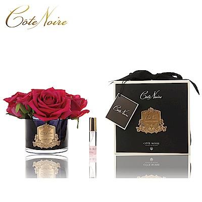 法國 CoteNoire 蔻特蘭 五朵紅玫瑰香氛花黑瓶
