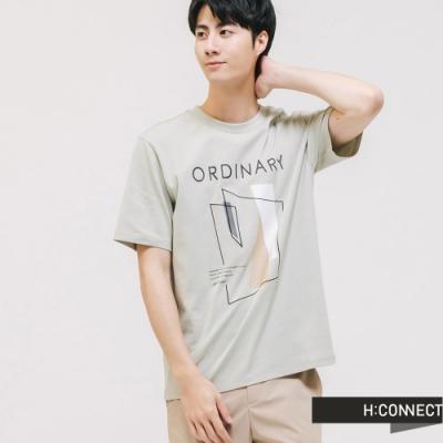 H:CONNECT 韓國品牌 男裝 -手繪感圓領T-shirt - 綠