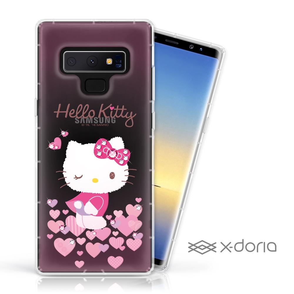 Hello Kitty Samsung Note 9 彩繪水鑽手機空壓殼 - 心愛