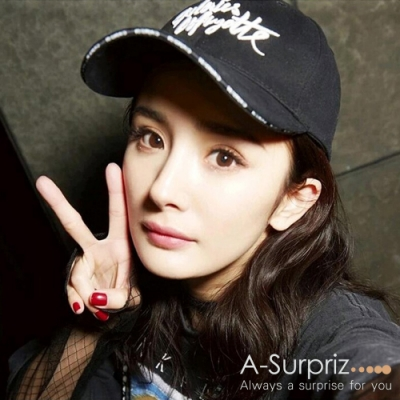 A-Surpriz 韓風潮流英字棒球帽 (黑)