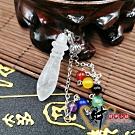 財神小舖 能量脈輪 文昌筆吊墜鏈-白水晶 (含開光) BI-001