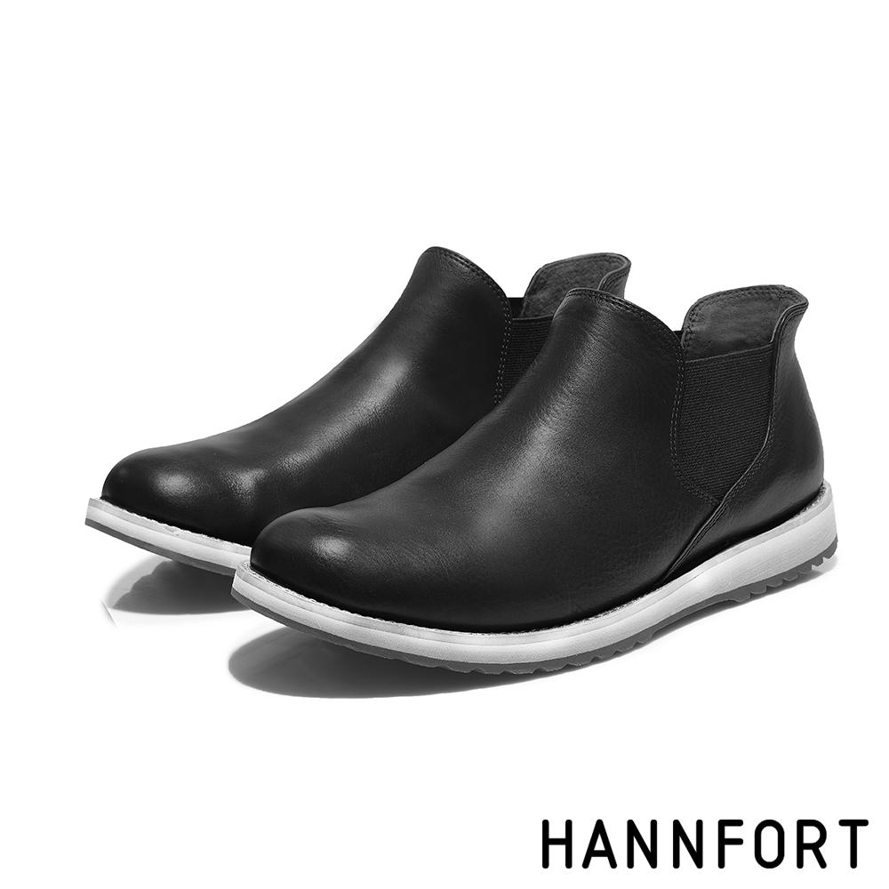 HANNFORT  CANYON牛皮紳士氣墊短靴 男 紳士黑
