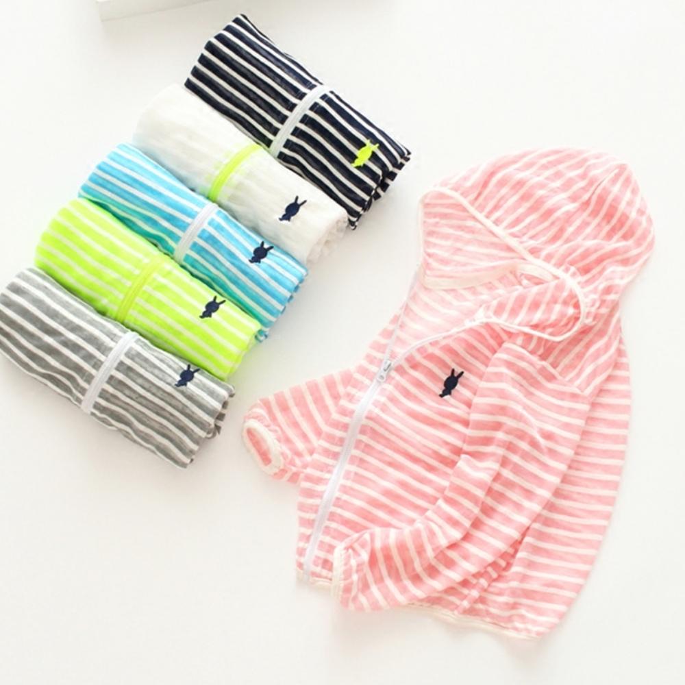 小衣衫童裝    兒童夏季輕透連帽拉鍊防曬空調衫1070411