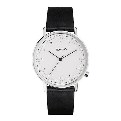 KOMONO Lewis 李維斯系列腕錶-簡約白