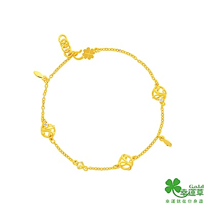 幸運草 春日漫遊黃金/水晶手鍊