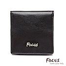 FOCUS原皮時尚黑四方超薄零錢包(FGA0058)