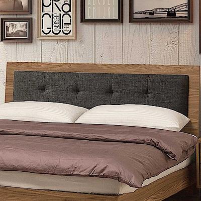 文創集 藍柏蒂時尚6尺棉麻布雙人加大床頭片(不含床底)-182x12x96cm免組