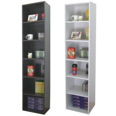 頂堅 六層間隙防潮書櫃 收納櫃 置物櫃-寬40x深30.3x高180/公分-二色