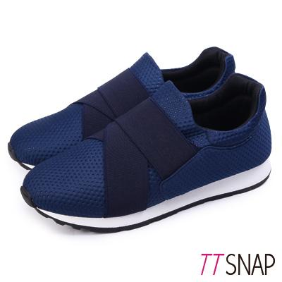 TTSNAP運動鞋-MIT超輕量透氣耐震慢跑鞋 藍