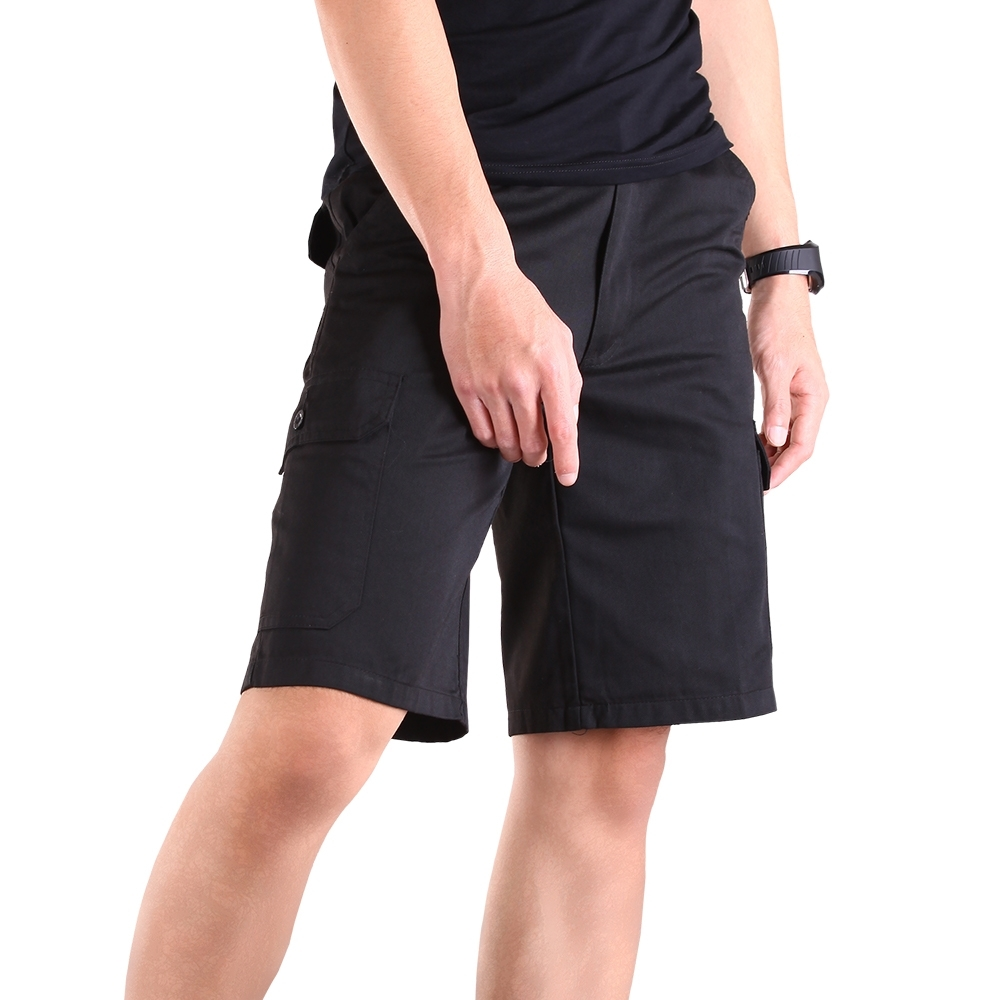 CS衣舖 彈性鬆緊腰 多口袋工作短褲 product image 1
