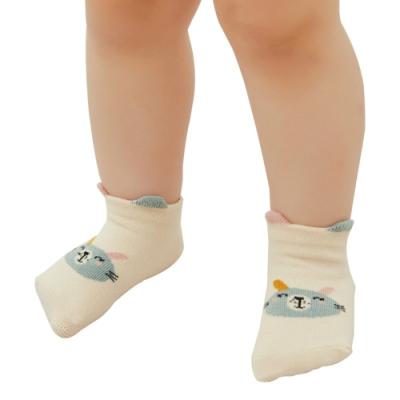 JoyNa【四雙入】兒童純棉立體淺口小怪獸短襪童襪船襪地板