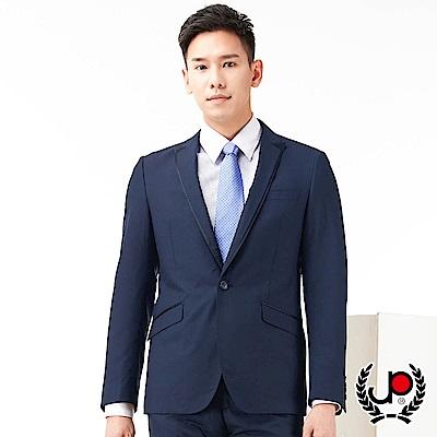 極品西服 素雅混紡羊毛窄版款西裝外套_暗藍(AS753-3G)