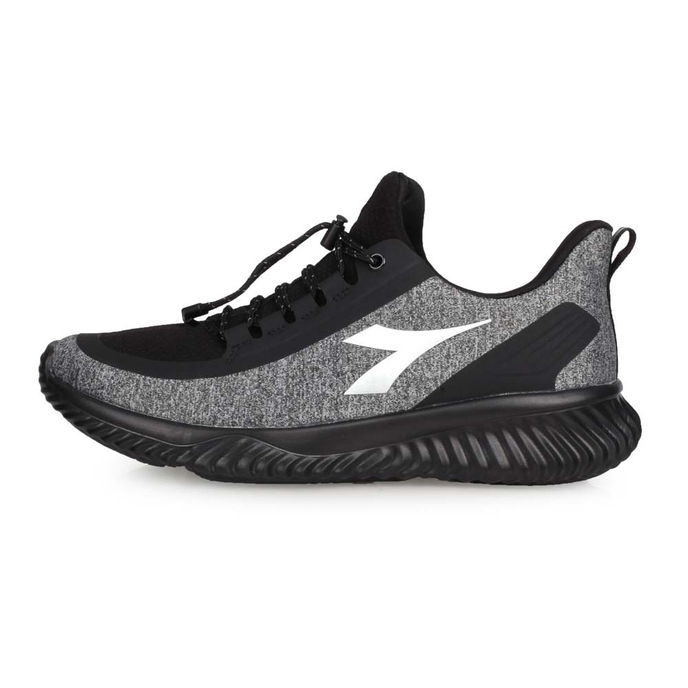 DIADORA 男 生活抗水運動鞋-寬楦 灰黑銀
