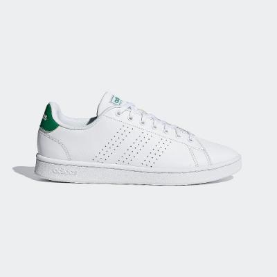 adidas 休閒鞋 小白鞋 運動鞋 男鞋 白綠 F36424 ADVANTAGE