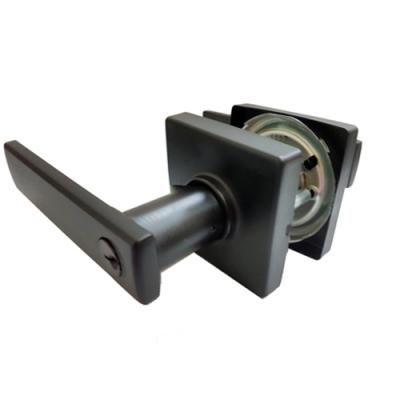 LP1X90G 加安 浴廁鎖 消光黑 內側自動解閂 安裝60mm門厚30-45mm