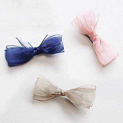 Hera 赫拉 日系網紗蝴蝶結髮飾3入組-隨機