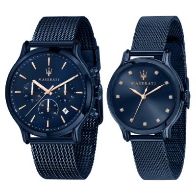 【MASERATI 瑪莎拉蒂】瑪莎拉蒂BLUE EDITION COMPETIZIONE 湛藍系對錶R8853141003