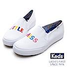 Keds x LITTLE MISS 立體刺繡字母休閒便鞋-白色