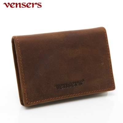 【vensers】小牛皮潮流個性皮夾~(NB802702瘋馬皮名片夾)