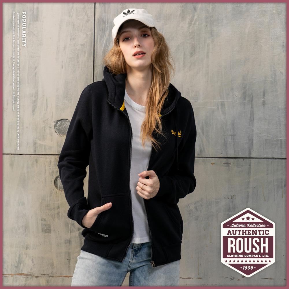 Roush 女生over size高領設計刷毛帽外套(4色)