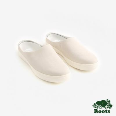 Roots女鞋- 休閒穆勒鞋-米白