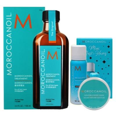 MOROCCANOIL  摩洛哥優油星光迷你禮盒組(優油100ml+15ml+優油鎖色乾洗髮65ml)