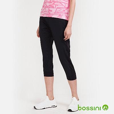 bossini女裝-速乾七分運動褲02黑