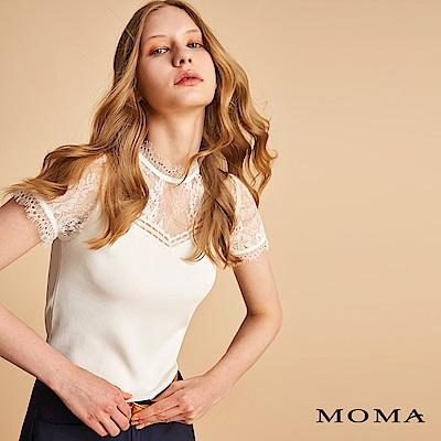 MOMA 睫毛蕾絲領針織上衣