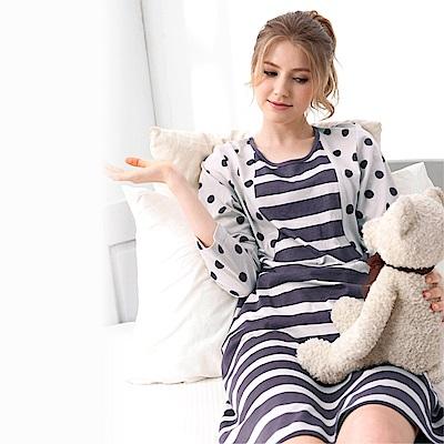 [時時樂限定] RoseMaid羅絲美 愜意生活點點條紋長袖睡衣999