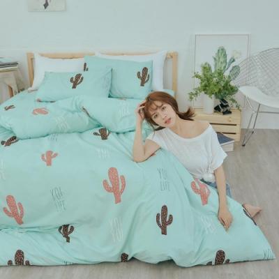 BUHO 乾爽專利機能單人床包+雙人薄被套三件組(多肉寓所)