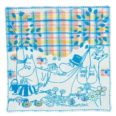 日本丸真 Moomin今治三層紗布方巾兩入組 (款式隨機)