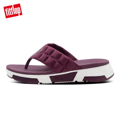 FitFlop HAYLIE QUILTED CUBE TOE-THONGS運動風夾腳涼鞋-女(紫紅色)