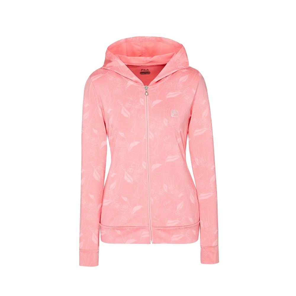 FILA 女吸濕排汗針織外套-粉色 5JKV-1607-PK