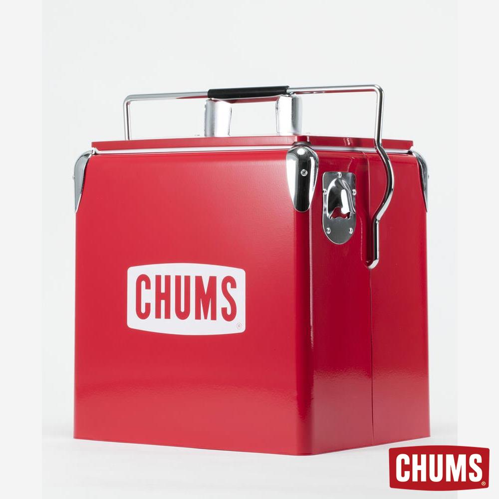 CHUMS 大LOGO復古造型冰桶 紅