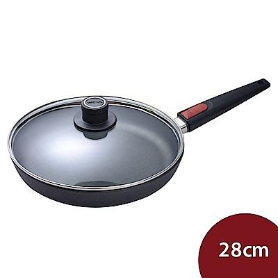 Woll Nowo 鈦金 圓形不沾平底煎鍋+蓋 28cm (1528N 電磁爐不可用)