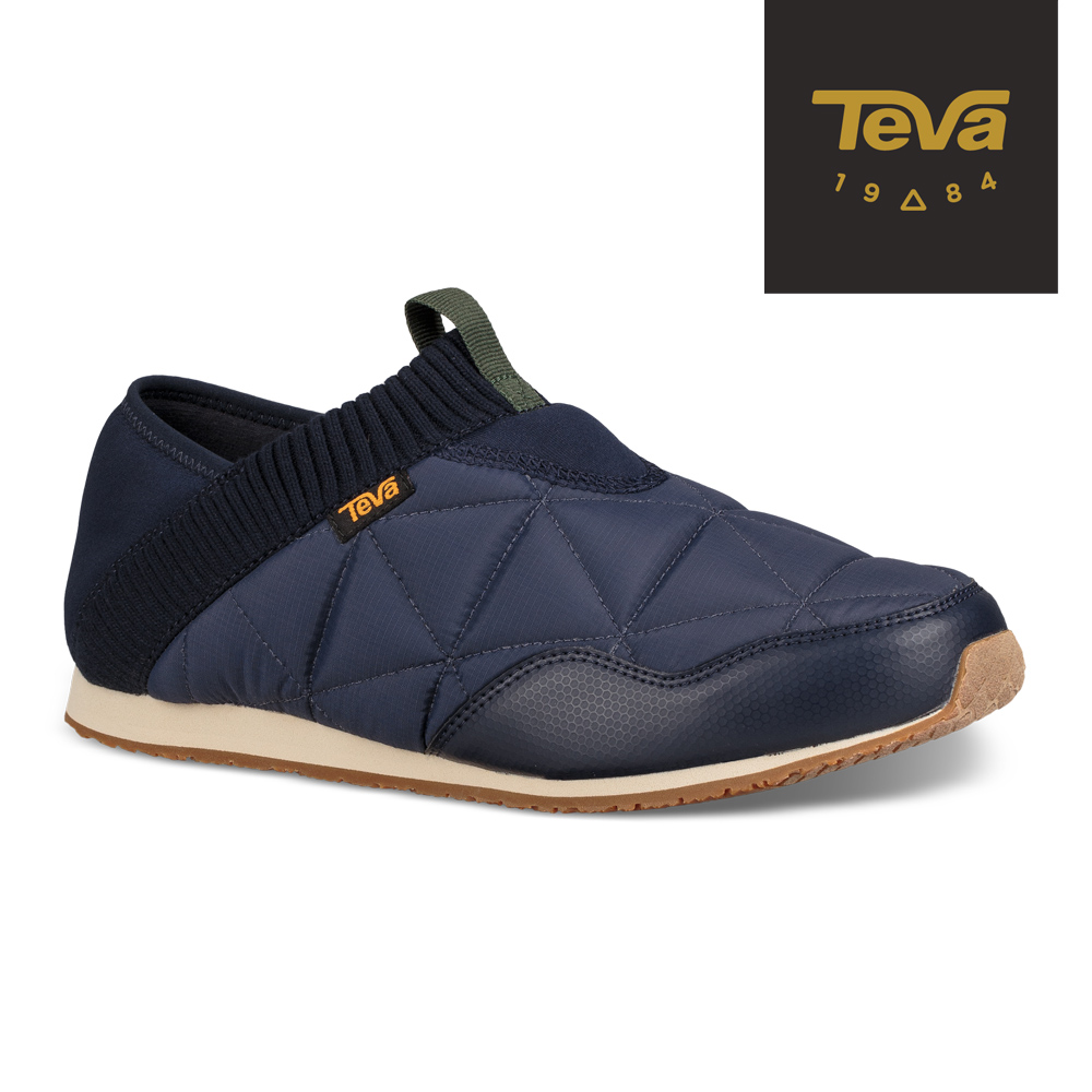 【TEVA】原廠貨 男 Ember Moc 防潑水菠蘿麵包鞋/休閒鞋/懶人鞋(午夜海軍藍-TV1018226MDNV)