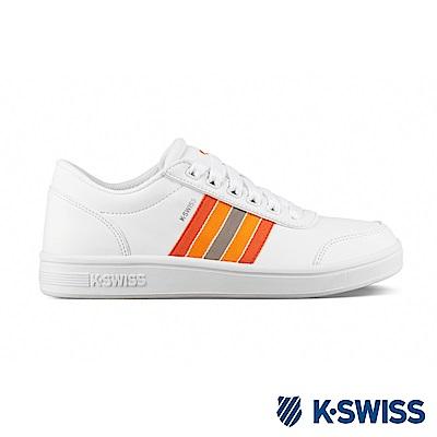 K-SWISS Court Clarkson S SE休閒運動鞋-女-白/橘