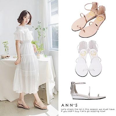 [時時樂限定]Ann'S銷售破千雙極致舒適仙女顯瘦涼鞋-三色