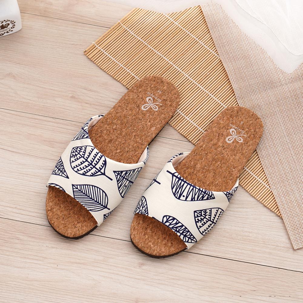 【維諾妮卡】好葉輕軟木室內拖鞋-白