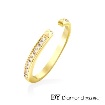 DY Diamond 大亞鑽石 L.Y.A輕珠寶 18黃K金 時尚 鑽石線戒
