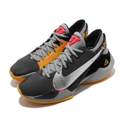 Nike 籃球鞋 Zoom Freak 2 EP 男鞋 氣墊 避震 包覆 明星款 運動 球鞋 灰 黃 CK5825006