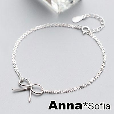 AnnaSofia 線繞小線結雙鍊 925純銀手環手鍊(銀系)