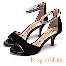 Pineapple Outfitter 華麗質感 水鑽麂皮高跟鞋-絨黑