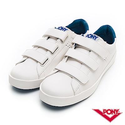 【PONY】TOP STAR時尚百搭魔鬼氈 小白鞋 休閒鞋 男鞋 寶藍色