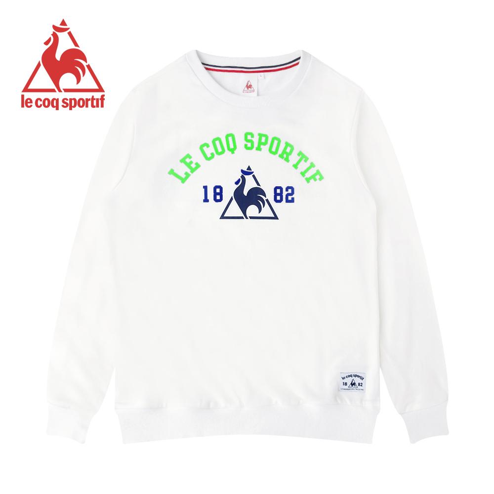 le coq sportif 法國公雞牌長袖圓領T恤 男-白