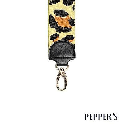 PEPPER`S Rebellion 編織斜背帶 - 黃豹紋