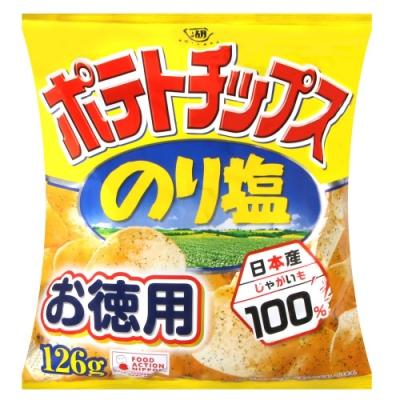 湖池屋 海苔鹽味薯片分享包 (126g)
