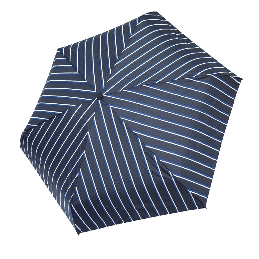 HUS 藍白豎條抗UV省力自動傘