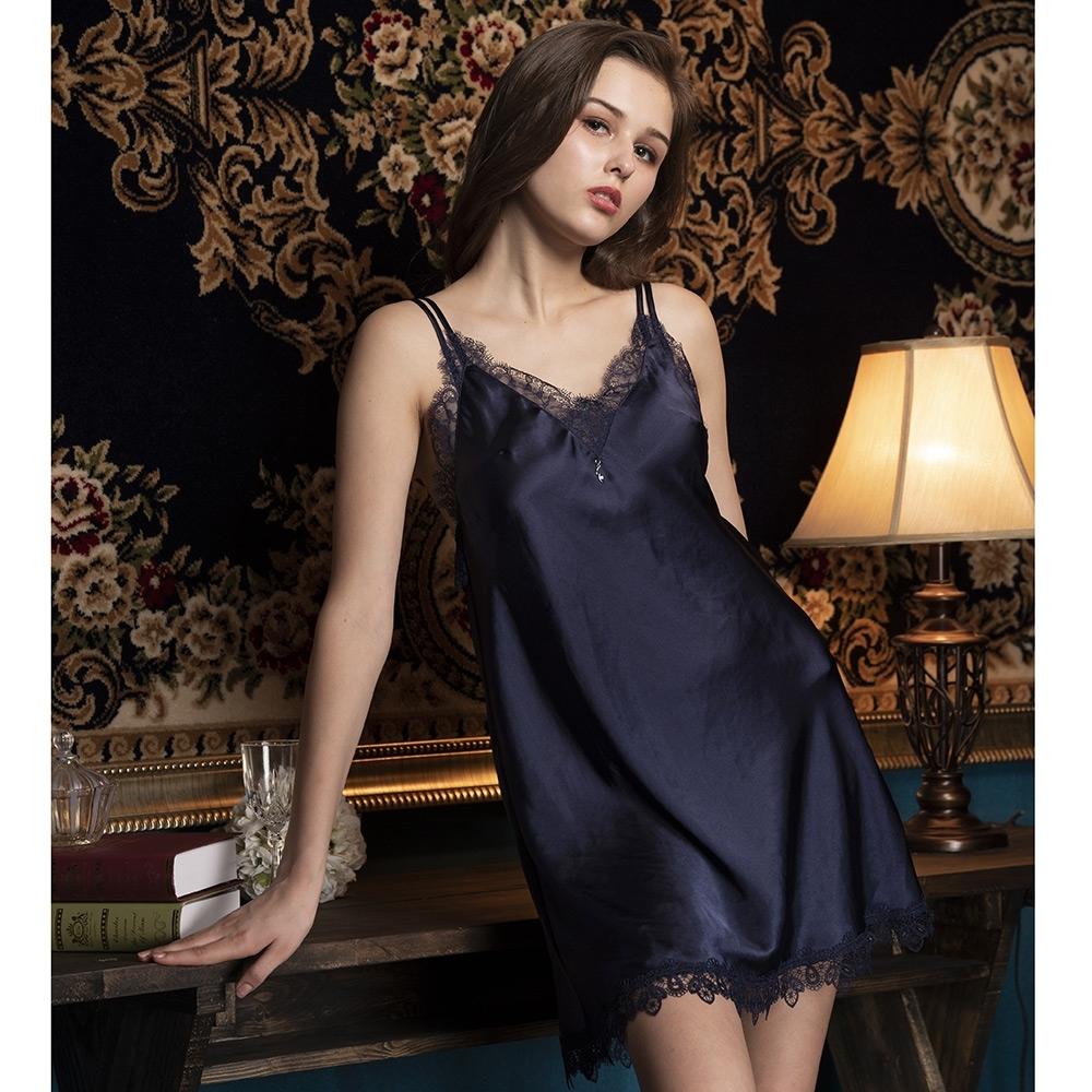 華歌爾睡衣-簡約 M-L 性感裙裝(藍)沙典